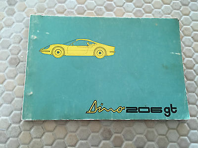 Ferrari Official Factory Issued Dino 206 Gt Spare Parts Manual Brochure 1969 !