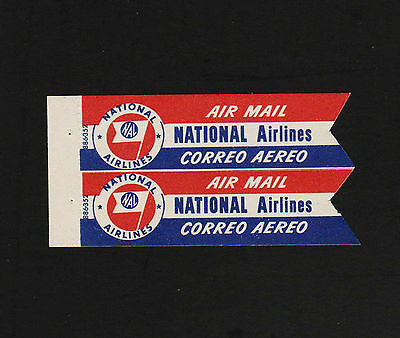 OPC X2 Vintage National Airlines Air Mail Labels MNH