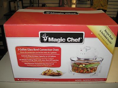 Magic Chef EWGC12W3 3 Gallon Glass Bowl Convection Oven New Great Deal !!!!