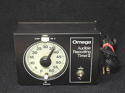 Omega Audible Repeating Timer II for Darkroom Film Processing NICE
