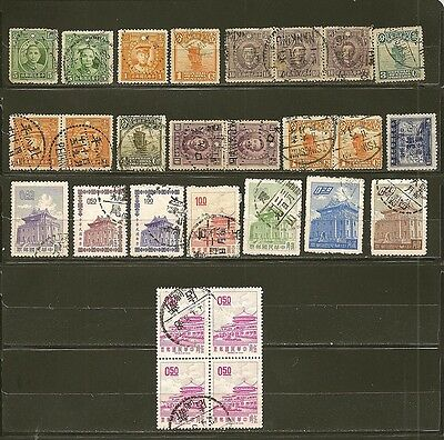 China Old Used Stamps -27-