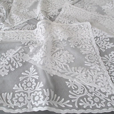 Set of 6 Vintage HM Hungarian Buszak Applique on Net Lace Placemats * ROOSTERS