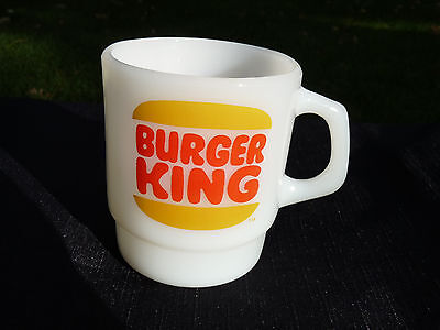 Rare Vintage Fire-King Burger King Anchor Hocking Coffee Cup/Mug Mint