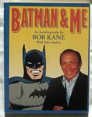 """Softcover """"batman And Me"""" Autobiography By Bob Kane Book 1989 (32)"""