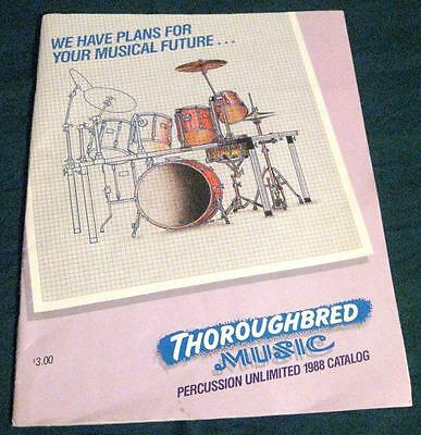 Thoroughbred Music Percussion Unlimited Catalog 1988