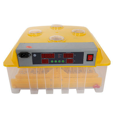 48 Eggs Automatic Incubator Hatching Poultry with Alarm Function Peep Door 110V