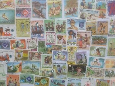 100 Different Scouts/Scouting on Stamps Collection