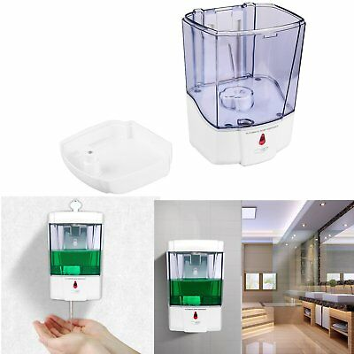 Automatic Sensor Hands Free 600ml Soap Dispenser Sanitizer Bathroom Wall Mounted