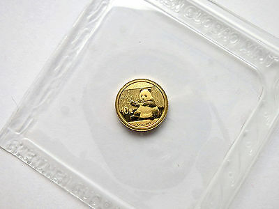 10 Yuan China Panda 2017 / 1 g Gold st in Originalfolie