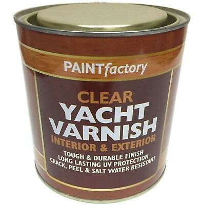 650ml All Purpose Clear Yacht Varnish Tough Durable Can Apply Indoor Outdoor