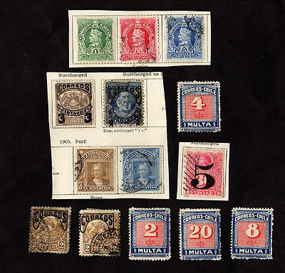 Stamps ~ CHILE South America ~ SURCHARGE & OVERPRINTS Unchecked #2