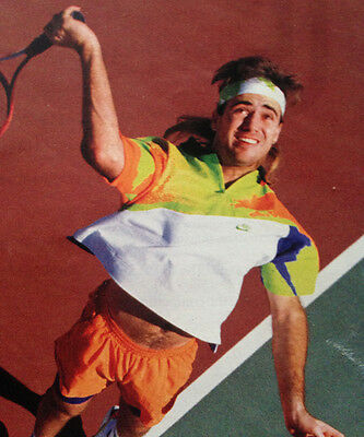 """The Rarest NIKE ANDRE AGASSI XL CHALLENGE COURT TOP SHIRT TENNIS 90's 52"""""""
