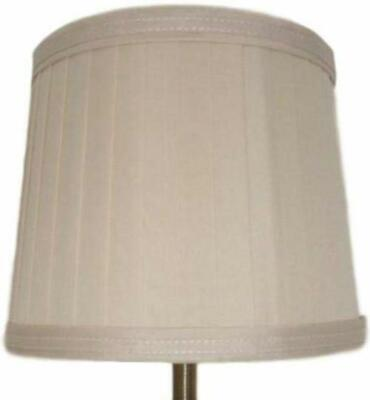 White Knife Pleated Fabric Empire Drum Lampshade Table Lamp Light Shade