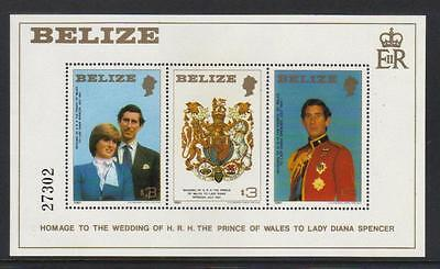 Belize 1981 Royal Wedding U/m M/s