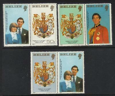 Belize 1981 Royal Wedding Set Of 3