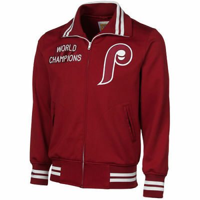 finest selection b48fc c45c0 Philadelphia Phillies Mitchell   Ness MLB Authentic Bp Full-Zip Jackets
