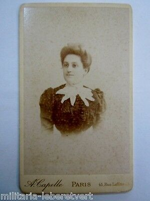 Photo Cdv Portrait De Femme Par Capelle A Paris  Original