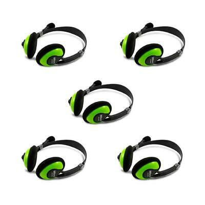 iMicro IM942 Multimedia Stereo Headset with Microphone, 5-Pack #SP-IM942 5