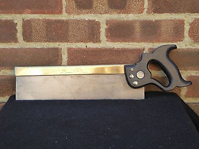 "Vintage Spear & Jackson No 52 Leap Frog Brass Backed 14"" Tenon Saw 13 TPi Tool"