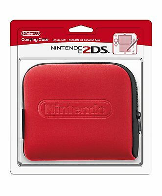 Official Nintendo 2DS Carrying Case * RED * Carry Pouch * NEW