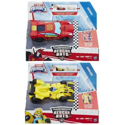 Transformers Rescue Bots Pull Back Car Figure Playskool Heroes Transforming Toy