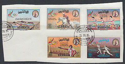 Bahrain 1984 Mi.346/50 on piece Olympische Spiele Olympic Games Sports [st2656]