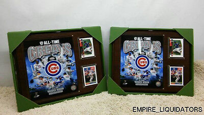 Lot of 2 C&I Collectables MLB 12x15 Chicago Cubs All-Time Great Photo Plaque