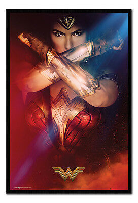 Framed Wonder Woman Crossed Arms Film Poster New