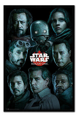 Framed Star Wars Rogue One Faces Poster New