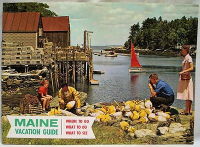 STATE OF MAINE VACATION GUIDE SOUVENIR TOURISM BROCHURE 1950s VINTAGE TRAVEL