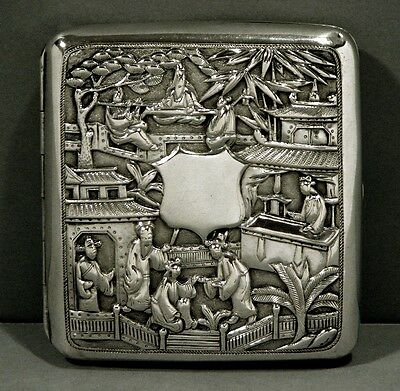 Chinese Export Silver Box     c1870                             TAX COLLECTOR