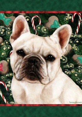 Large Indoor/Outdoor Holiday Flag - White French Bulldog 14213