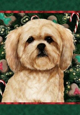 Large Indoor/Outdoor Holiday Flag - Lhasa Apso 14040