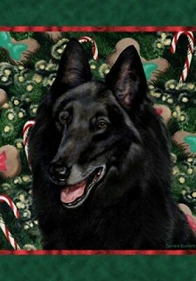 Large Indoor/Outdoor Holiday Flag - Belgian Sheepdog 14204