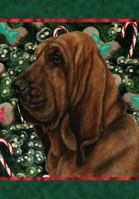 Large Indoor/Outdoor Holiday Flag - Bloodhound 14073