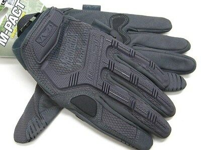 MECHANIX WEAR Large L Wolf Gray M-PACT Tactical Work Gloves New! MPT-88-010