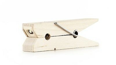 Kikkerland Clothespin Wooden Clothes Peg Clip On Reading Book Light Tablet Gift