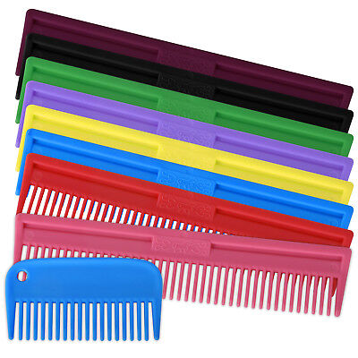 Tough Plastic Mane & Tail Comb Brush Horse & Pony Care Grooming - Small & Large
