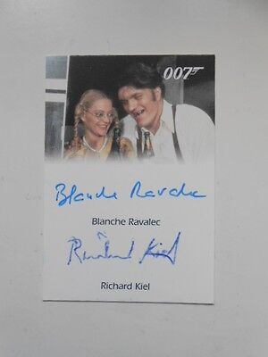"""James Bond rare double autograph """" Jaws"""" and girlfriend insert card"""