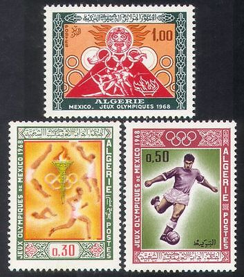 Algeria 1968 Olympic Games/Olympics/Sports/Football/Basketball/Torch 3v (n39243)