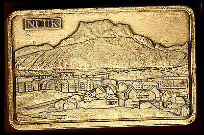 ● Greenland And The Capital Nuuk ● Commemorative Bronze Plated Bar