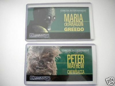 Star Wars Starcon Greedo/ Chewbacca rare limited issued cards set 1997
