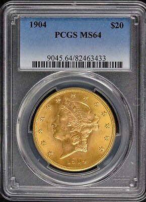 1904 $20 Liberty Head Double Eagle PCGS MS64