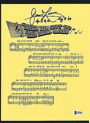 Jim Lovell signed Astronaut Cubs Take Me Out To The Ball Game Music Sheet- Rare!