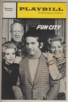 """Joan Rivers  """"Fun City""""  Playbill  1971  Broadway Preview  Rose Marie, Gabe Dell"""