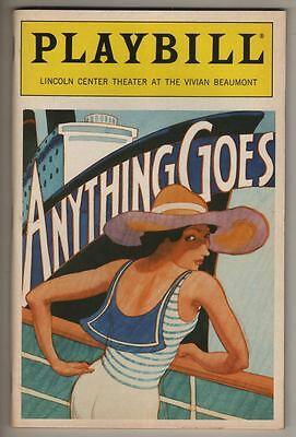 """Patti LuPone """"Anything Goes""""   Playbill  1987"""