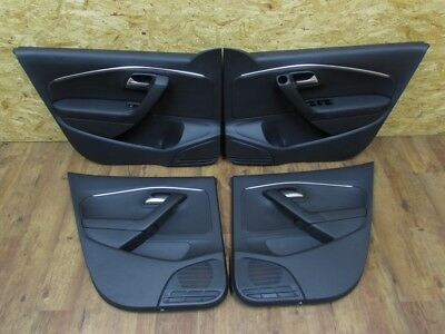 Original door panels front rear left right black leather VW Polo 6C RHD