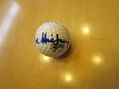 BABE HISKEY Signed (Spalding Jack Nicklaus) Golf ball -Guaranteed Authentic