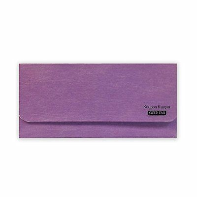 "Kleer-fax Koupon Keeper, Lavender, 8.5"" x 4"" Coupon Organizer Wallet, (15855)"