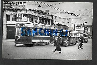 Nottingham Tram Trams Postcard Size Old Photo Car 181, Bus & Trolley Bus Ref2